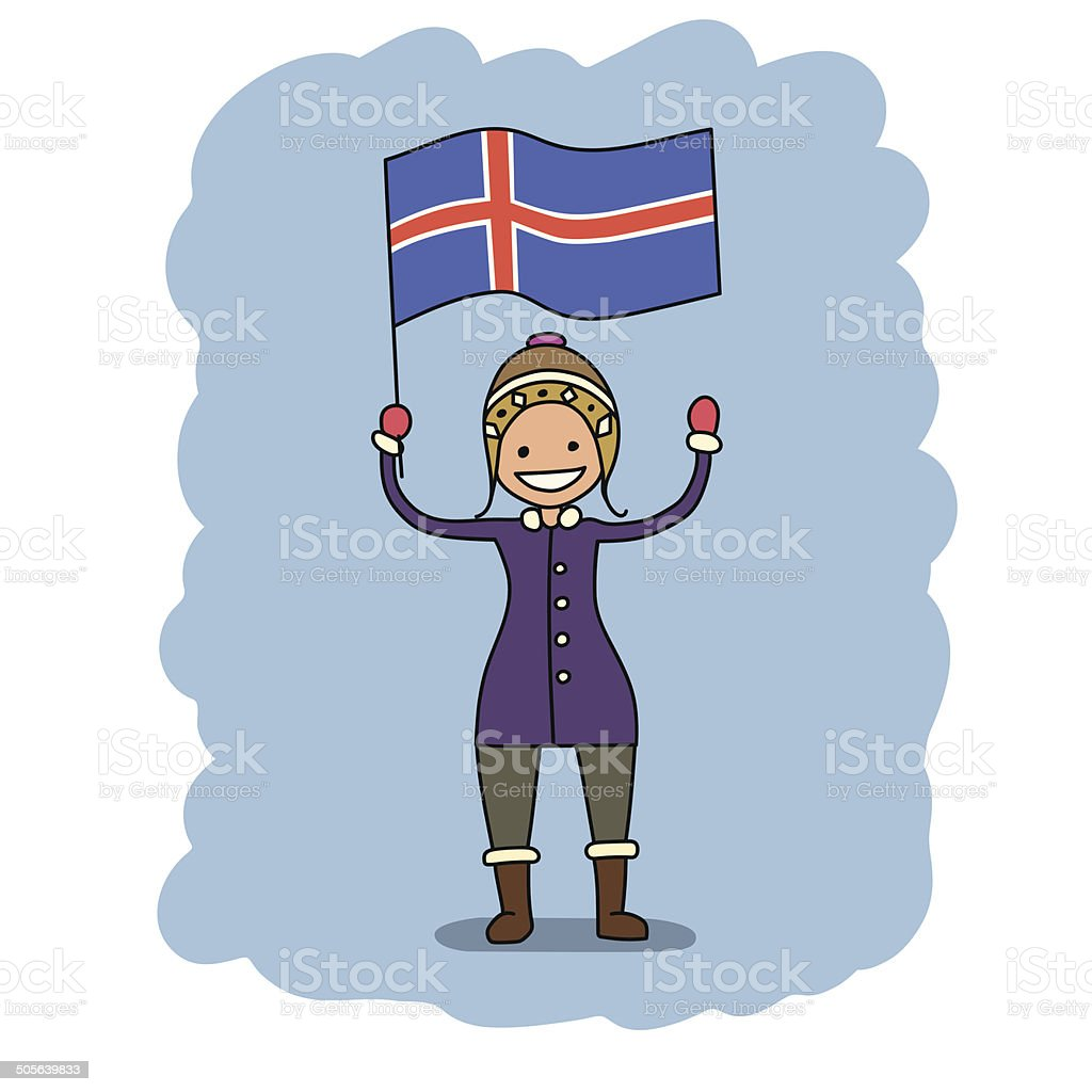 iceland flag royalty-free stock vector art