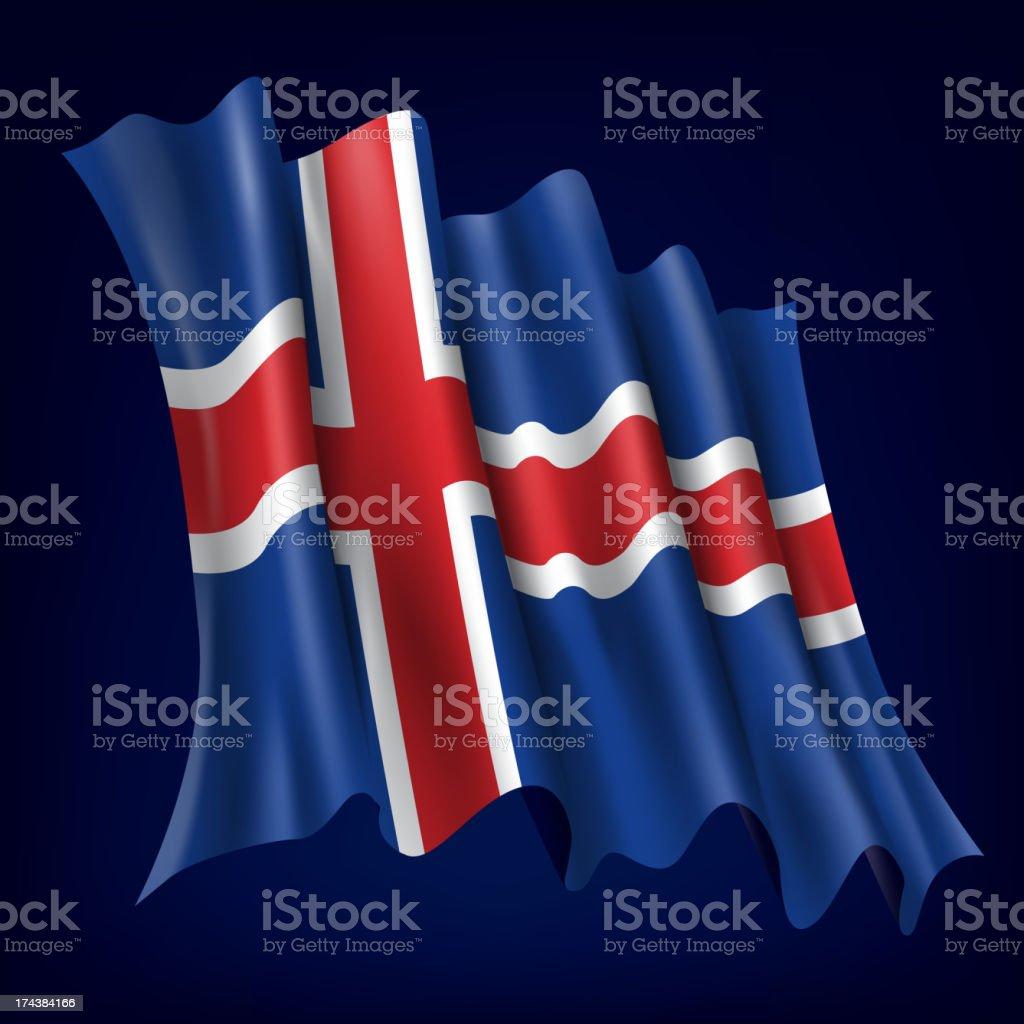 Iceland, Icelandic Flag royalty-free stock vector art