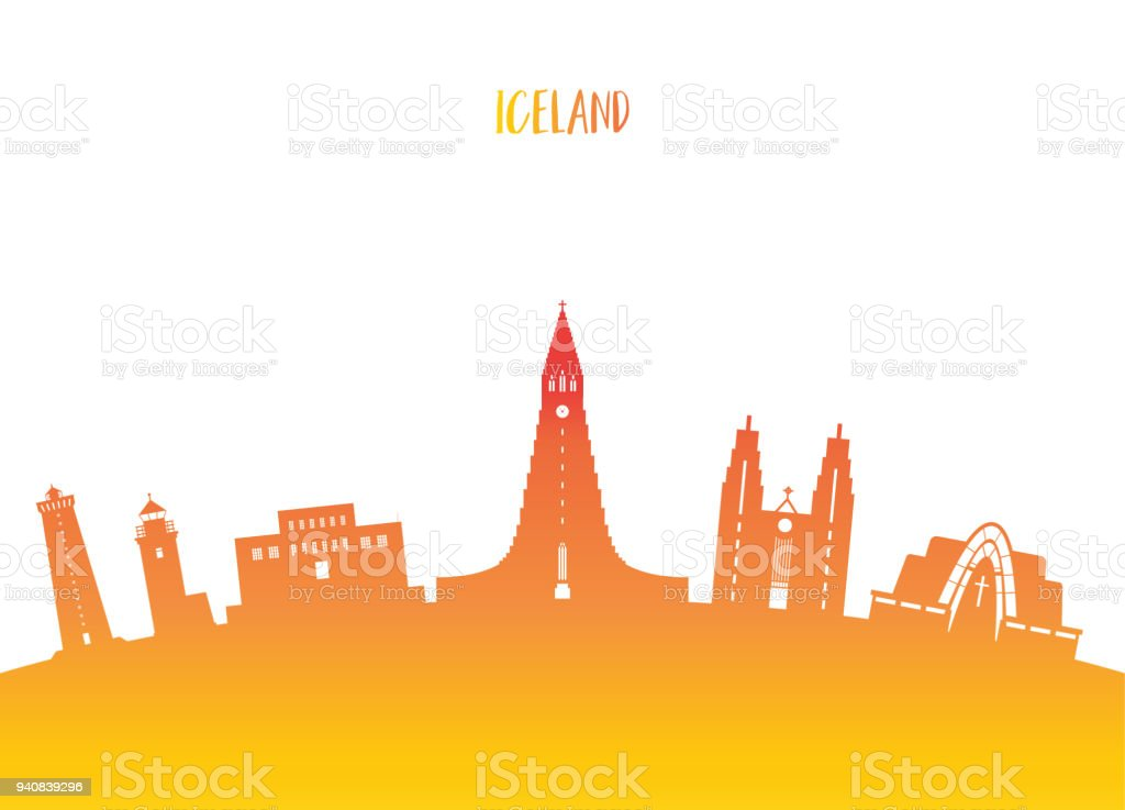 Iceland Landmark Global Travel And Journey Paper Background Vector Design Templateused For Your
