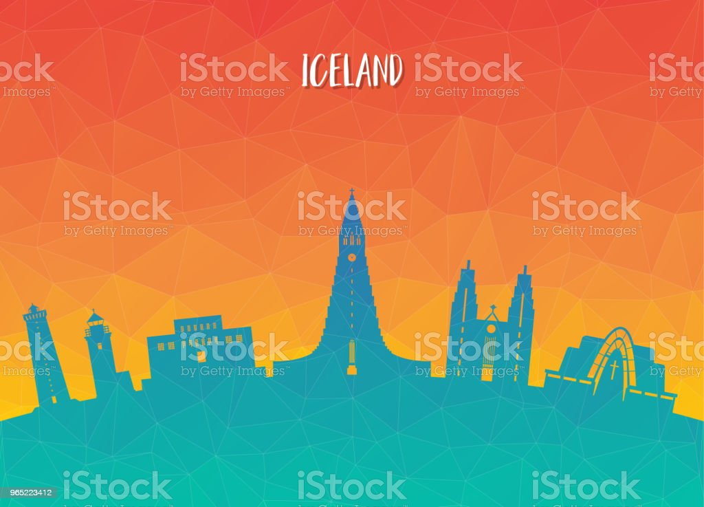 Iceland Landmark Global Travel And Journey paper background. Vector Design Template.used for your advertisement, book, banner, template, travel business or presentation. royalty-free iceland landmark global travel and journey paper background vector design templateused for your advertisement book banner template travel business or presentation stock vector art & more images of architecture