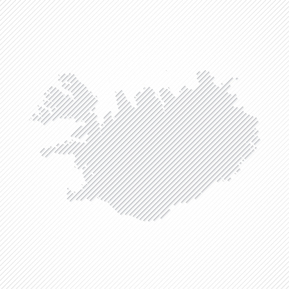 Iceland map designed with lines on white background