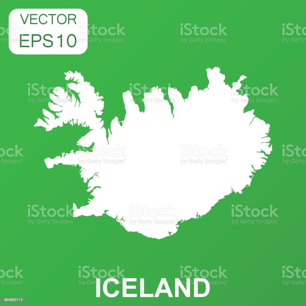 Iceland Map Icon Business Concept Iceland Pictogram Vector ...