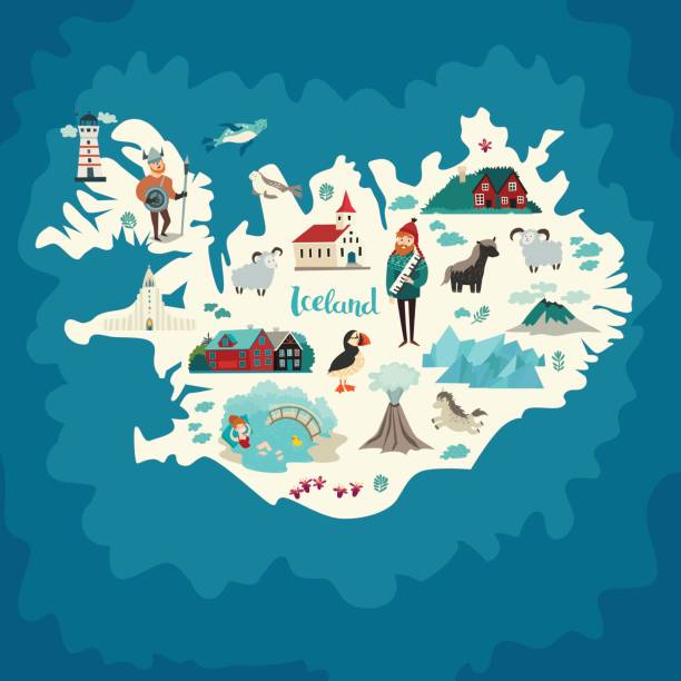 Best Iceland Illustrations, Royalty-Free Vector Graphics