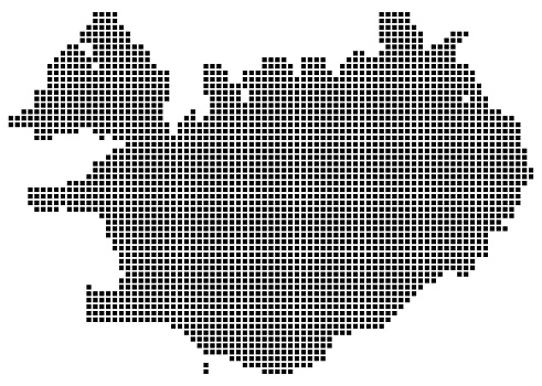 Iceland map square dotted style
