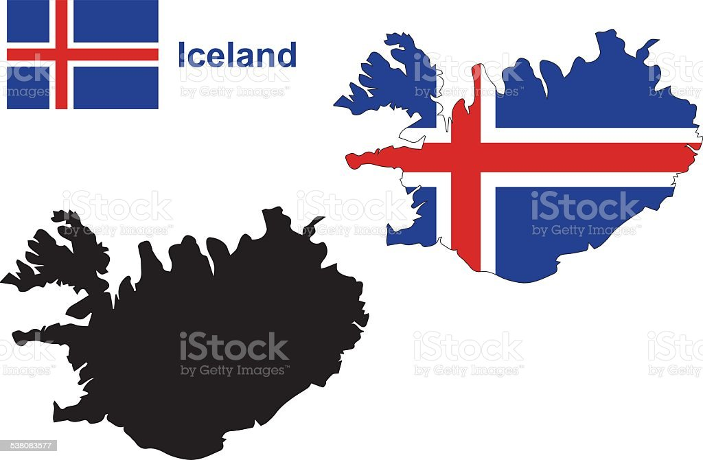 Iceland Map Vector Iceland Flag Vector Stock Vector Art & More ...