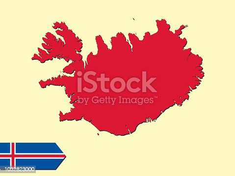 Iceland Map Stock Vector Art & More Images of Abstract 1032823000 ...