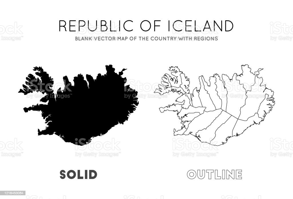 Image of: Iceland Map Stock Illustration Download Image Now Istock