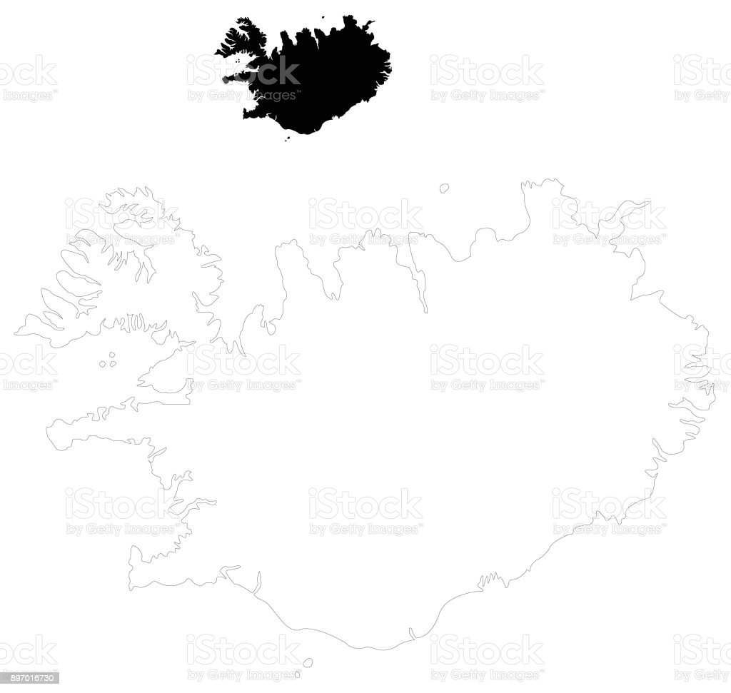 Iceland Map Stock Vector Art & More Images of Cartography - iStock