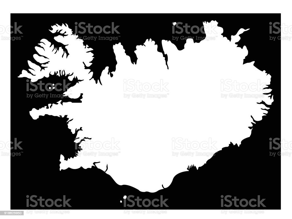 Iceland Map Stock Vector Art & More Images of Black Color 918625950 ...