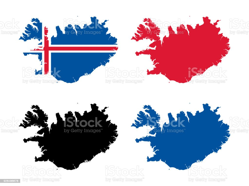Iceland Map Stock Vector Art & More Images of Abstract - iStock