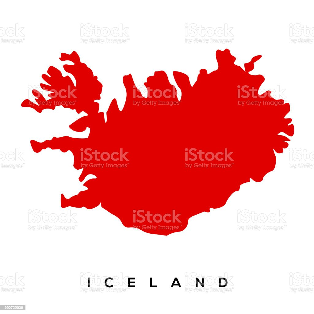 Iceland Map Stock Vector Art & More Images of Cartography 960725638 ...