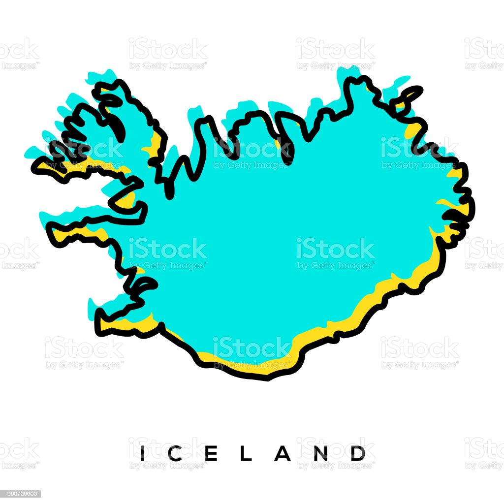 Iceland Map Stock Illustration - Download Image Now