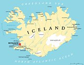 istock Iceland Political Map 474305568