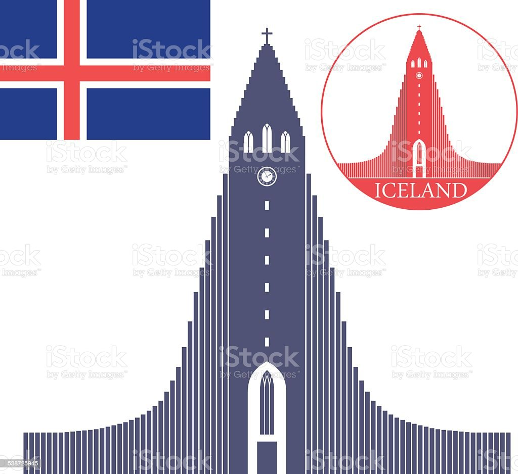 Iceland vector art illustration