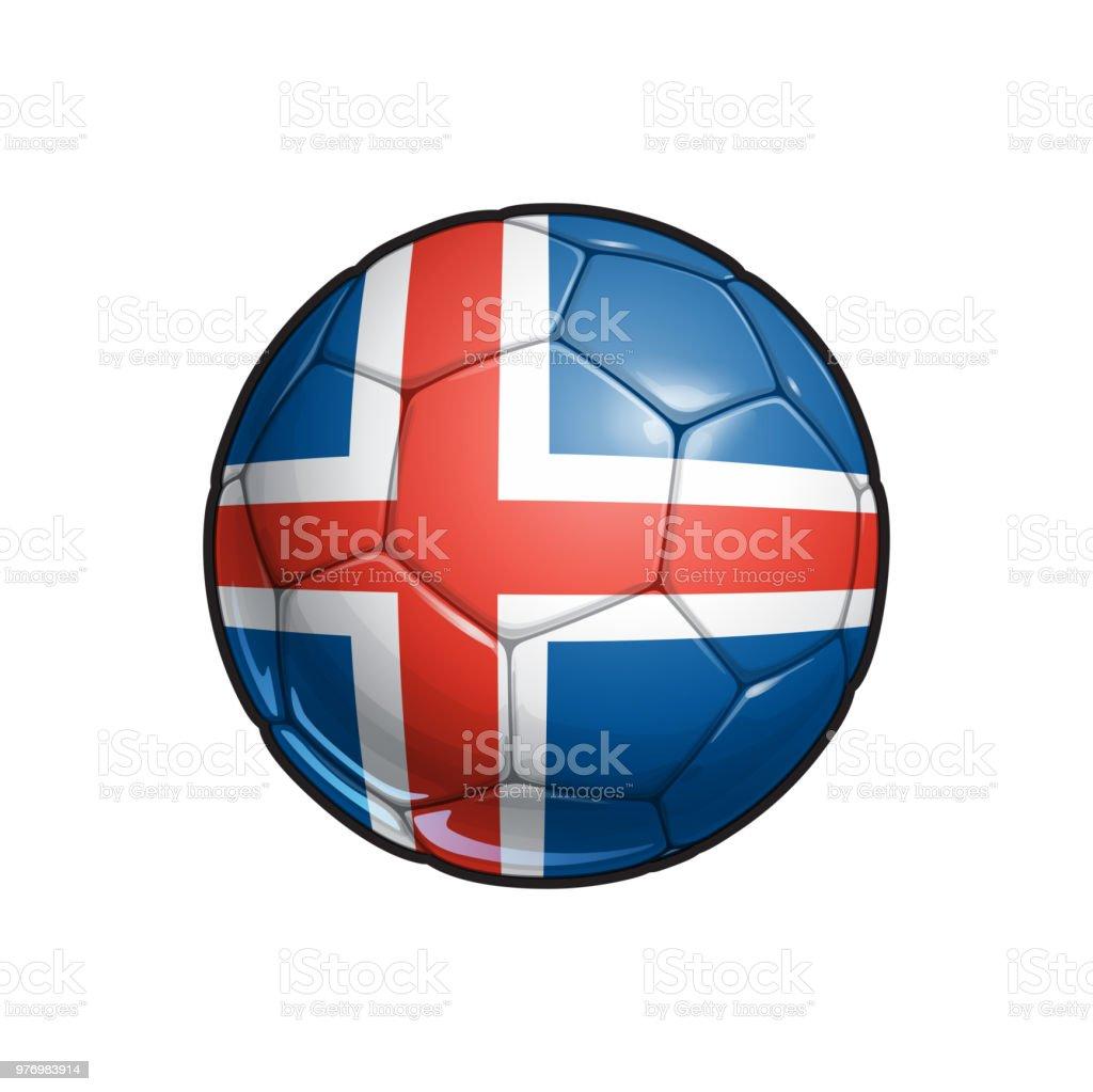 Icelandic Flag Football - Soccer Ball vector art illustration