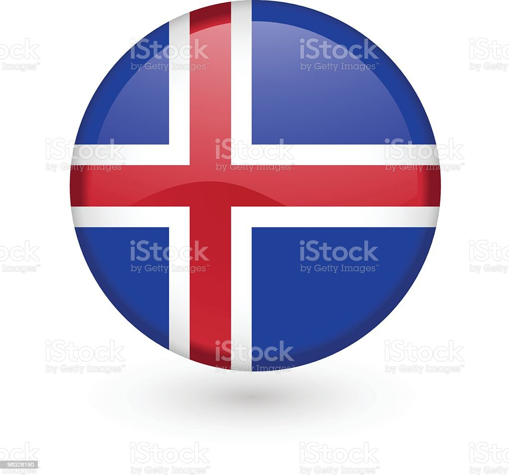 Icelandic flag vector button royalty-free stock vector art