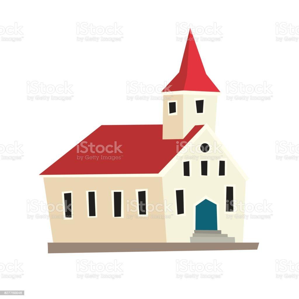 Icelandic temple vector icon