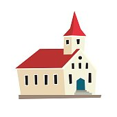 Icelandic temple vector icon