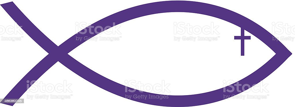 Ichthus Fish Symbol C2 Stock Vector Art More Images Of