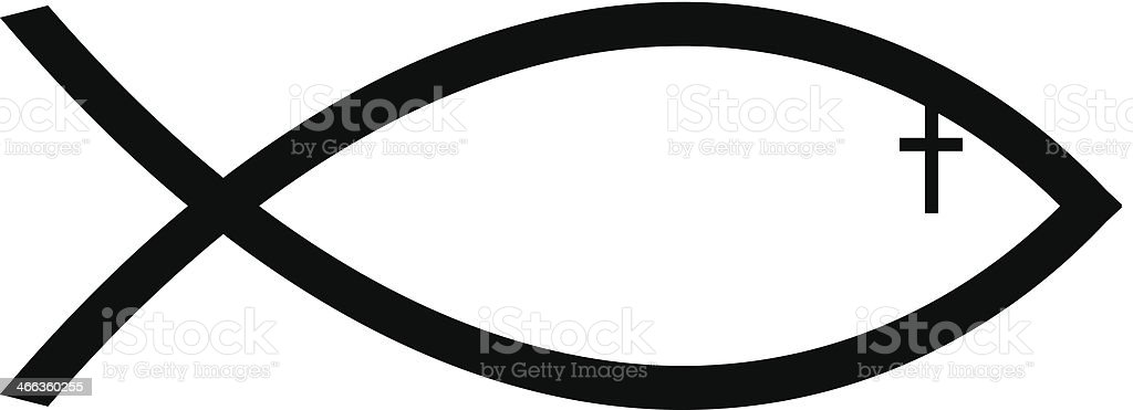 Ichthus Fish Symbol2 Stock Vector Art More Images Of Christianity