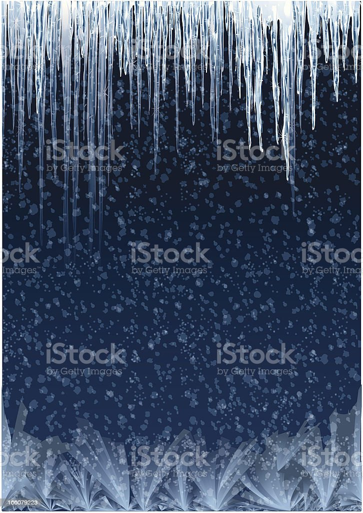 Icicles Background vector art illustration