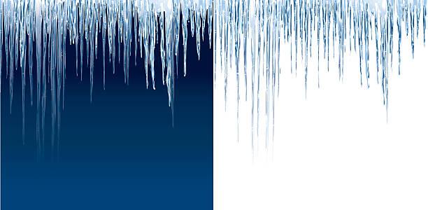 icicles auf blau und weiß - eiszapfen stock-grafiken, -clipart, -cartoons und -symbole