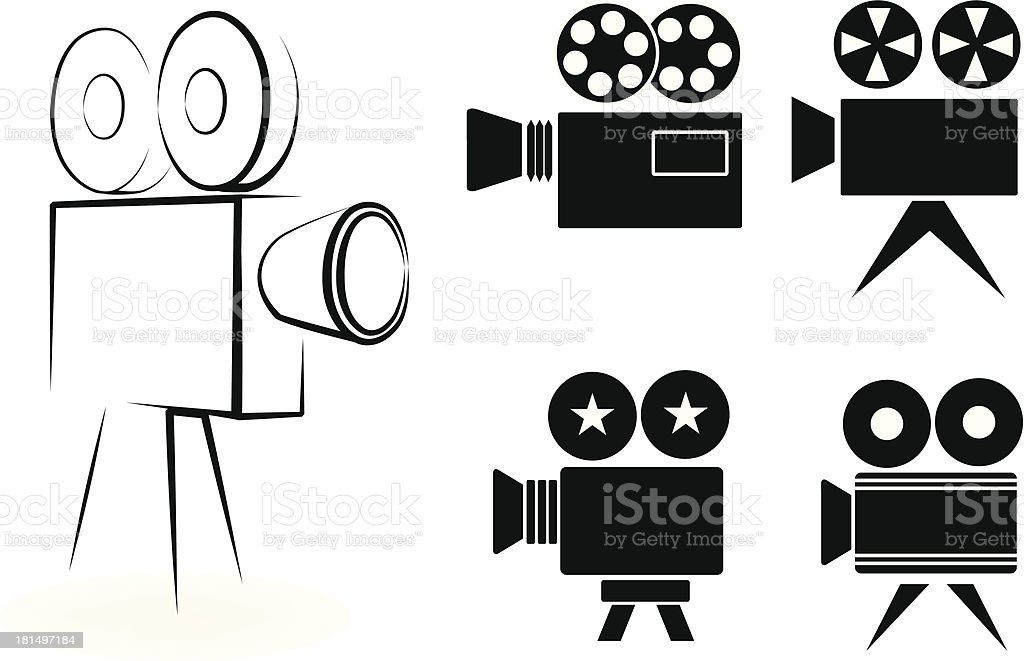 icоns of video cameras royalty-free stock vector art