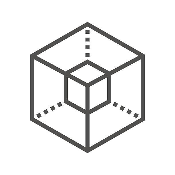 Icon 3D modeling - ilustração de arte em vetor