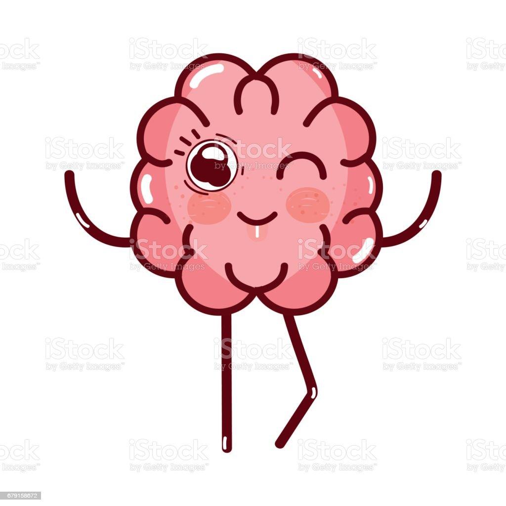 expression de cerveau icône adorable kawaii expression de cerveau icône adorable kawaii – cliparts vectoriels et plus d'images de abstrait libre de droits