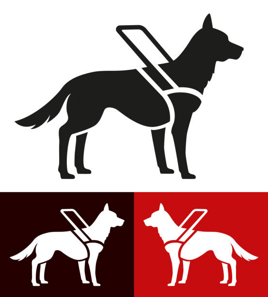 Icon assistance dog for blind people Vector Illustration of a Icon assistance dog for blind people animal stock illustrations