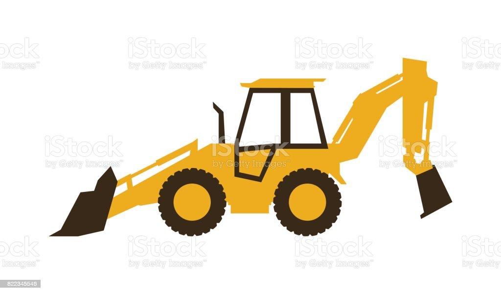 royalty free skid steer loader clip art vector images rh istockphoto com backhoe digging clipart backhoe clipart black and white
