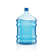 Icon big bottle with clean water. Plastic container