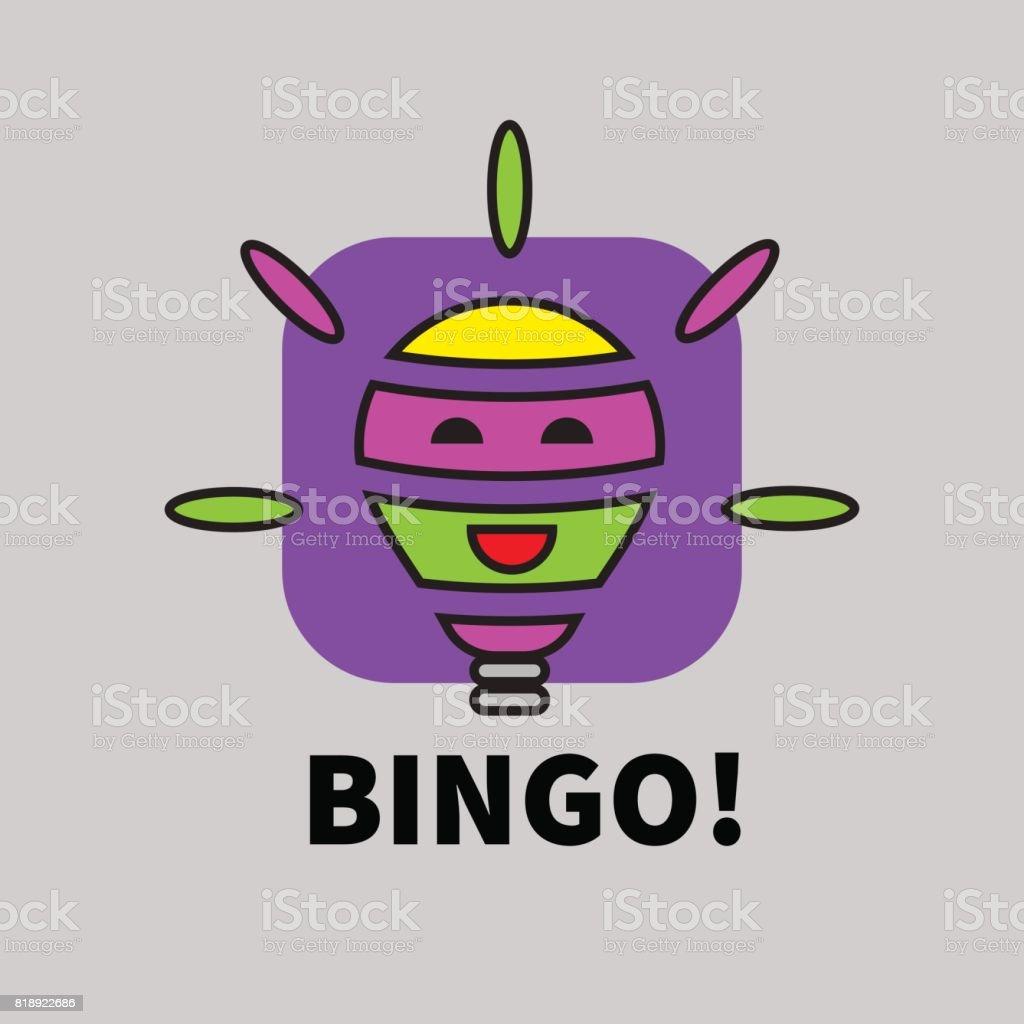 Bingo de icono - ilustración de arte vectorial