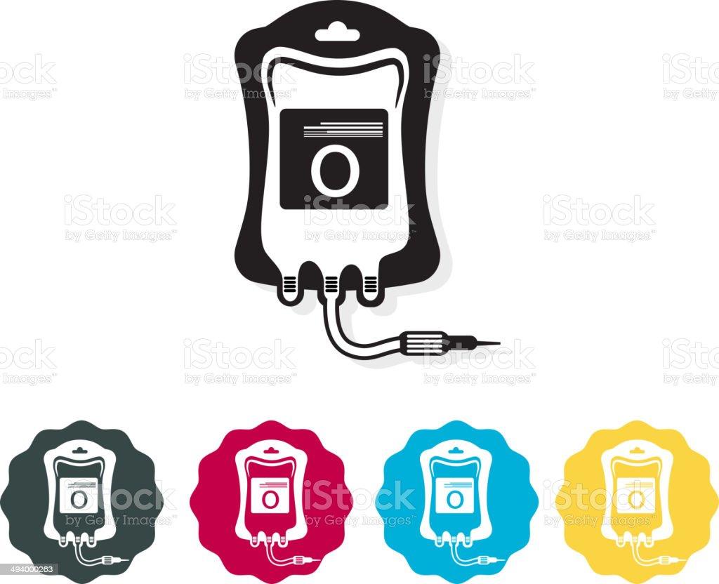 Icon - Blood Bag vector art illustration