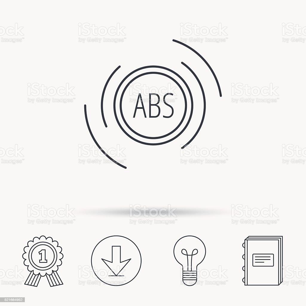 Abssymbol Bremsen Antilock System Anmelden Stock Vektor Art und mehr ...