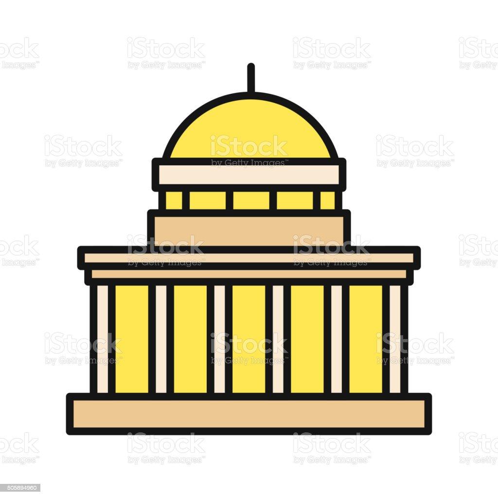 建物のフラットアイコンのデザインの絶縁 - アイコンのベクターアート