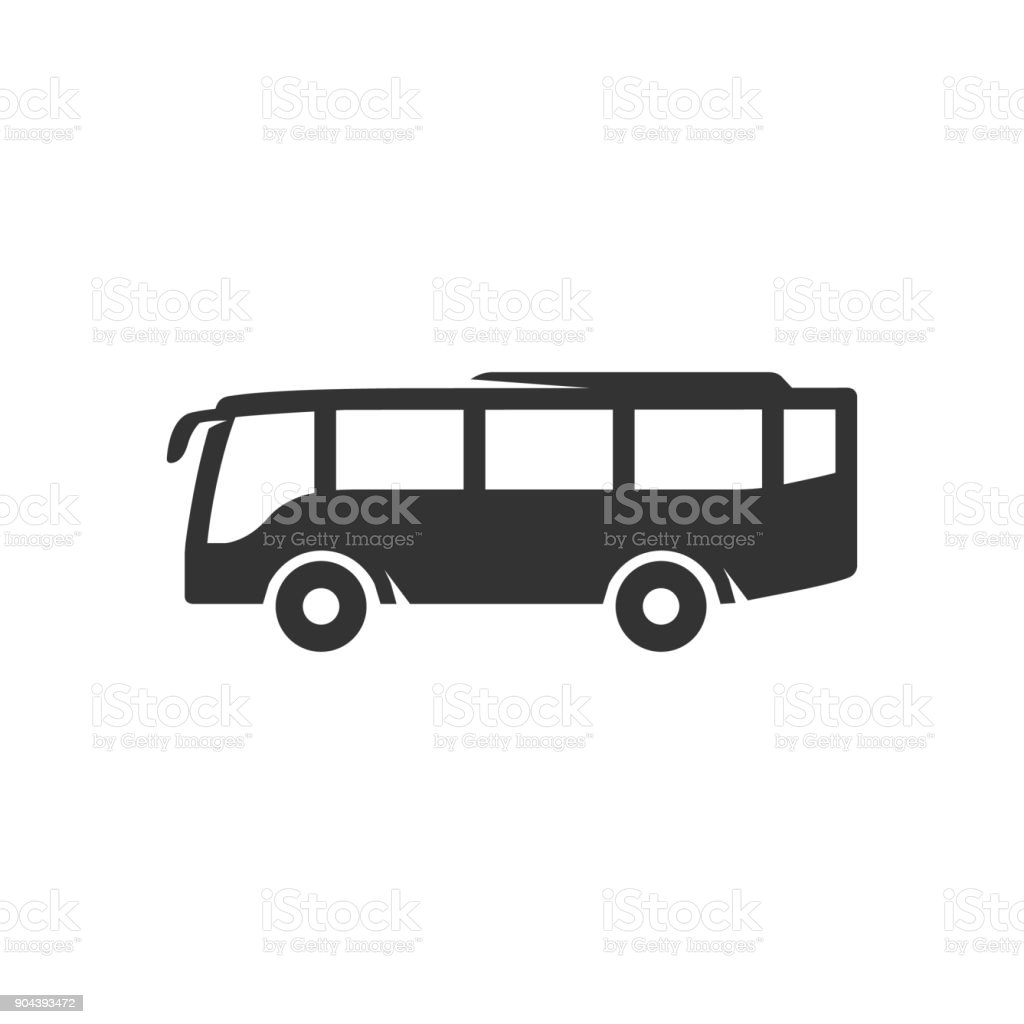 Icône de BW - Bus - Illustration vectorielle