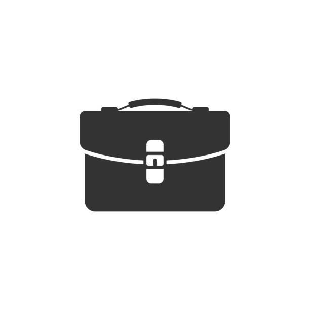 illustrazioni stock, clip art, cartoni animati e icone di tendenza di bw icon - business suitcase - borsa 24 ore