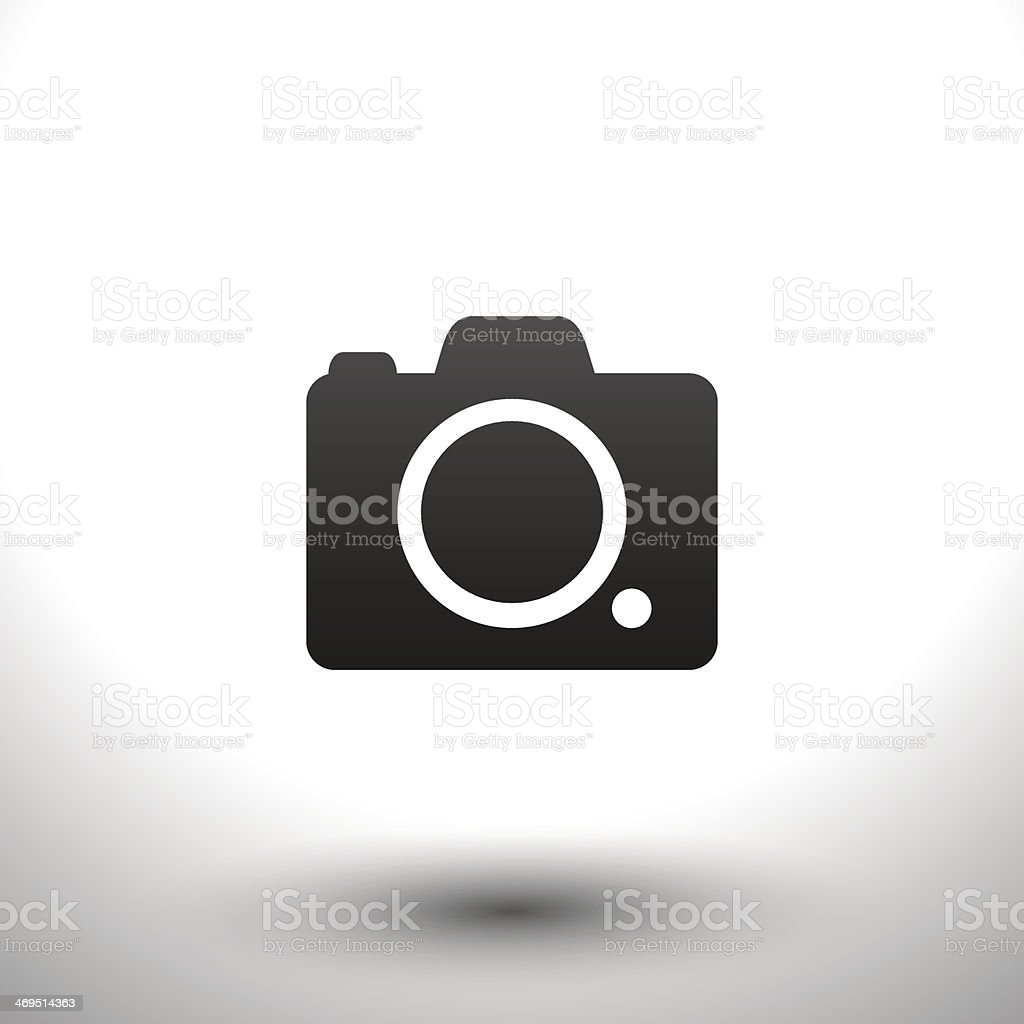 Icon camera vector art illustration