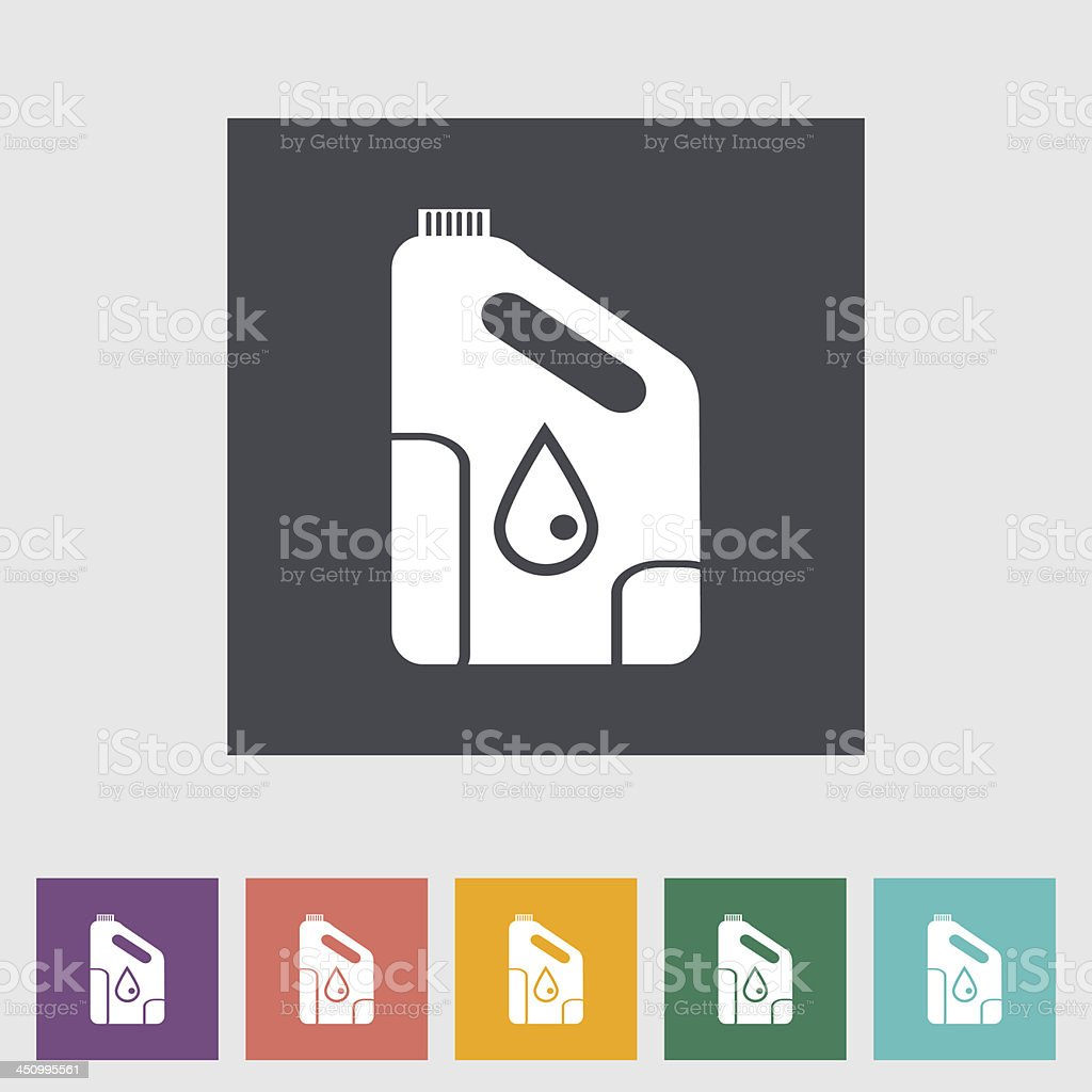 Icon cans of engine oil. vector art illustration