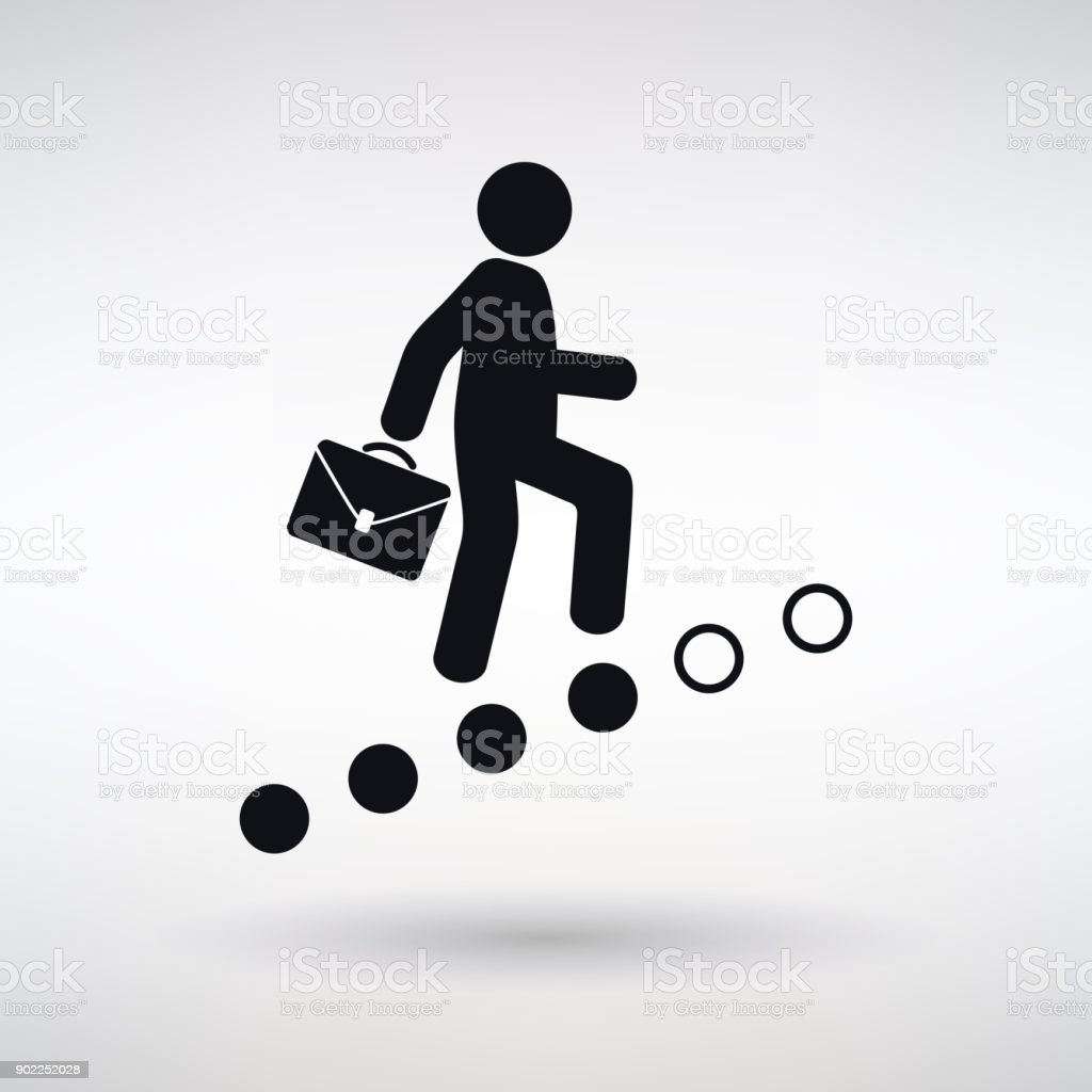 Icon Career Ladder vector art illustration
