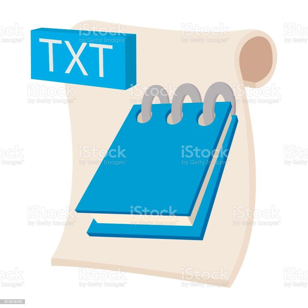 TXT icon, cartoon style txt icon cartoon style - arte vetorial de stock e mais imagens de banda desenhada - produto artístico royalty-free