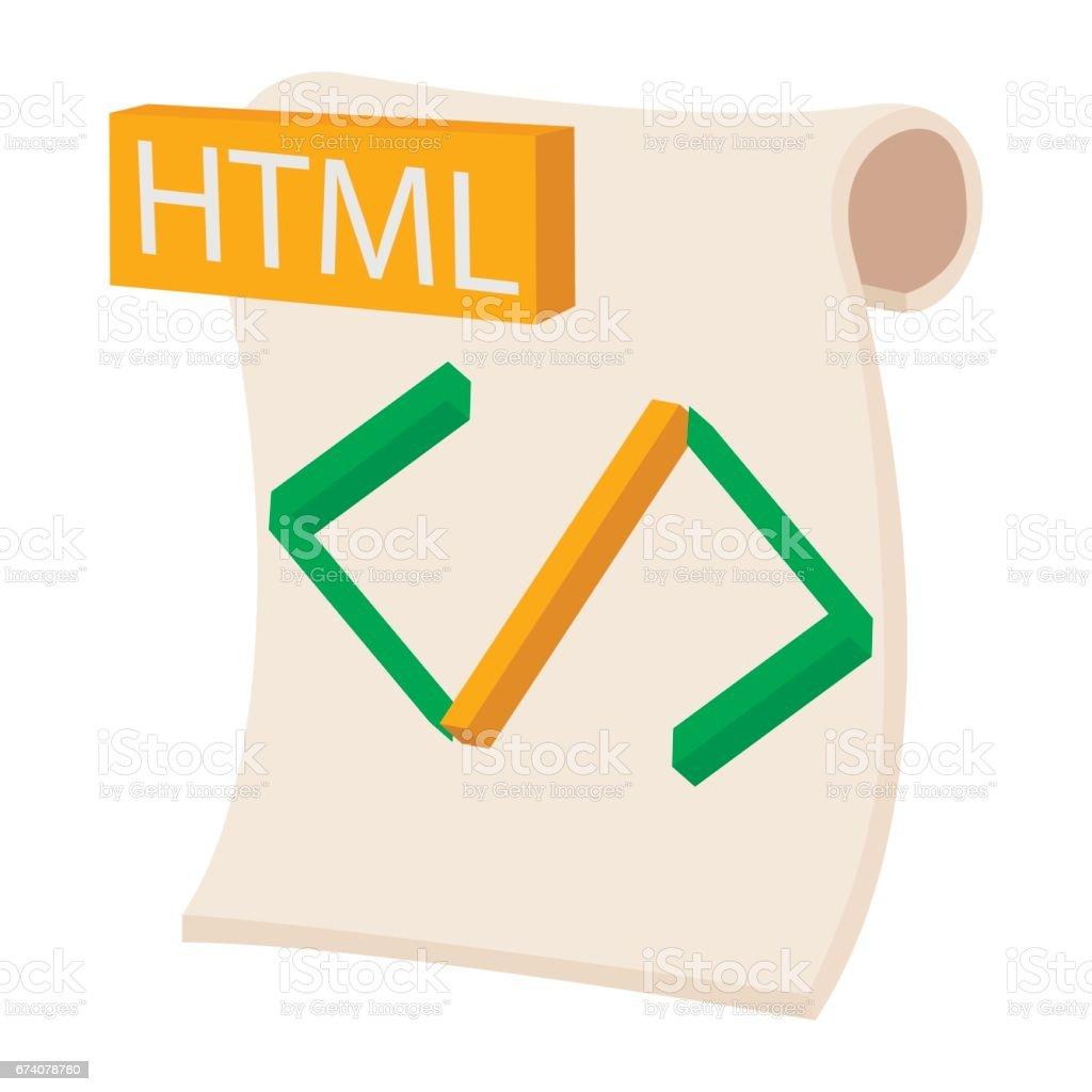 HTML icon, cartoon style html icon cartoon style - arte vetorial de stock e mais imagens de banda desenhada - produto artístico royalty-free
