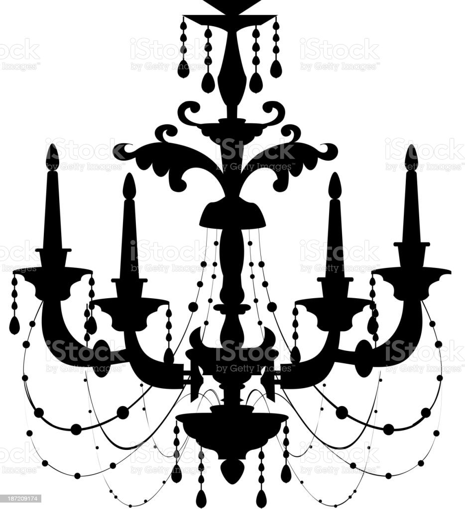 icon Chandelie vector art illustration