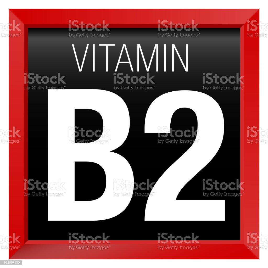 Vitamin B2 Symbol Chemie Rotes Quadrat Mit Schwarzem Rahmen Stock ...