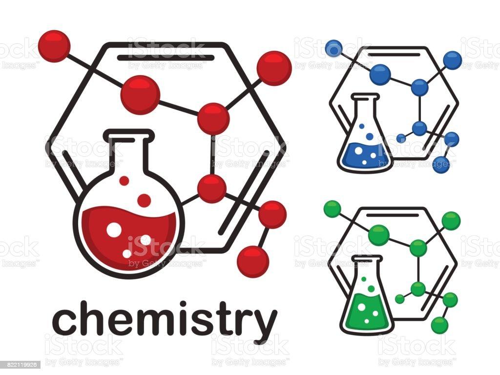 Icon chemistry vector art illustration