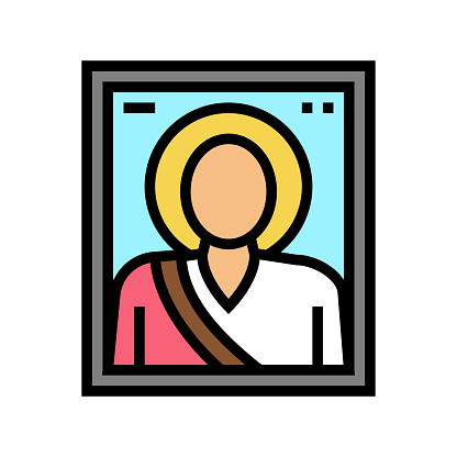 icon christianity color icon vector illustration