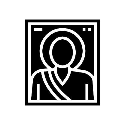 icon christianity glyph icon vector illustration