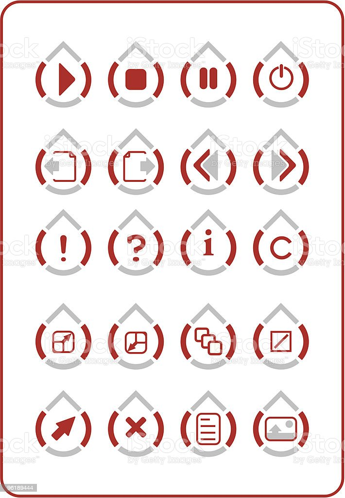 Icon collection royalty-free stock vector art
