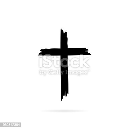 istock Icon cross with shadow ona white background 930842364